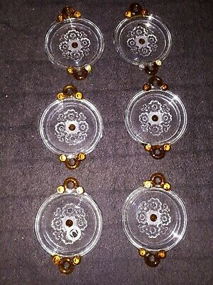 6 Original Walther-glas Untersetzer Retro