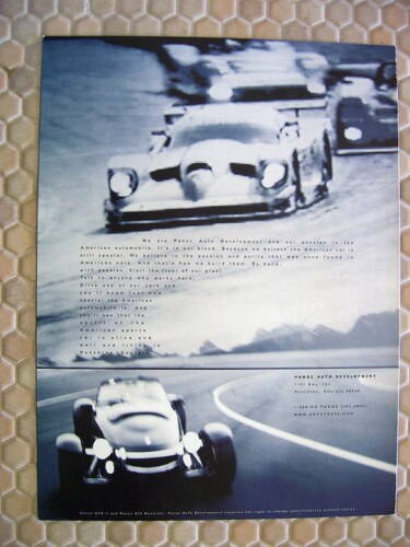 PANOZ OFFICIAL ESPERANTE FIRST PRODUCTION SALES BROCHURE 1999 USA EDITION