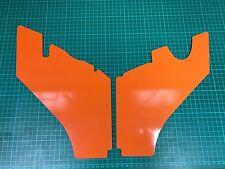 Ford Focus ST Pre Facelift Slam Panel covers Orange Vinyl Wrapped PAT PENDING
