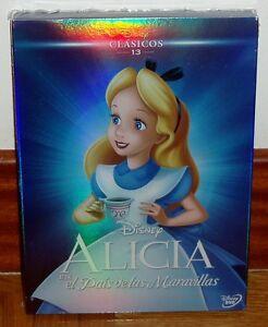 ALICIA-EN-EL-PAIS-DE-LAS-MARAVILLAS-DVD-CLASICO-DISNEY-N-13-SLIPCOVER-NUEVO-R2
