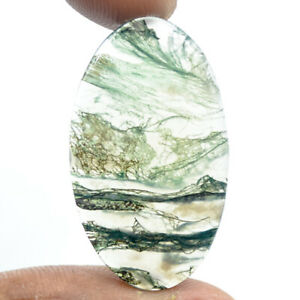 Cts-15-70-Natural-Moss-Agate-Cabochon-Oval-Cabs-Loose-Gemstones