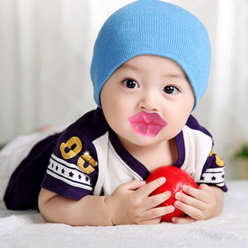 1X Funny Baby Kids Kiss Silicone Infant Pacifier Nipples Dummy Lips Pacifier L/_X