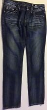 MISS ME JEANS MID RISE Distressed Sz 30 JP5145S Skinny 32X33 Bling Back