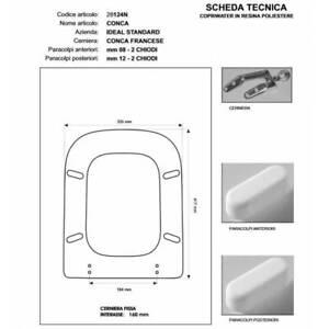 Sedile Water Ideal Standard Conca.Copriwater Ideal Standard Conca Rosa Sussurrato Cerniera Cromo Sedile Asse Wc Ebay