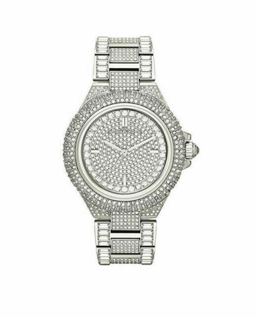 Michael Kors Camille 42 mm Silber Stainless Steel Gehäuse 22 mm Silber Stainless Steel Armband Damenuhr (MK5869)