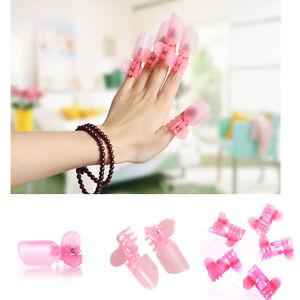 10pcs/sets ногтей инструменты Маникюрный Лак для ногтей Лак защиты зажим и чехлы