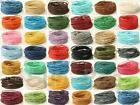 Smooth waxed HEMP cotton string cord twine 1mm Jewelry Macrame Crafts Beading