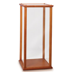 wood and plexi glass display case for collectibles and dolls bradford exchange ebay. Black Bedroom Furniture Sets. Home Design Ideas