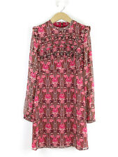BNWT Topshop Womens Raspberry Pink Printed Dress Size 8
