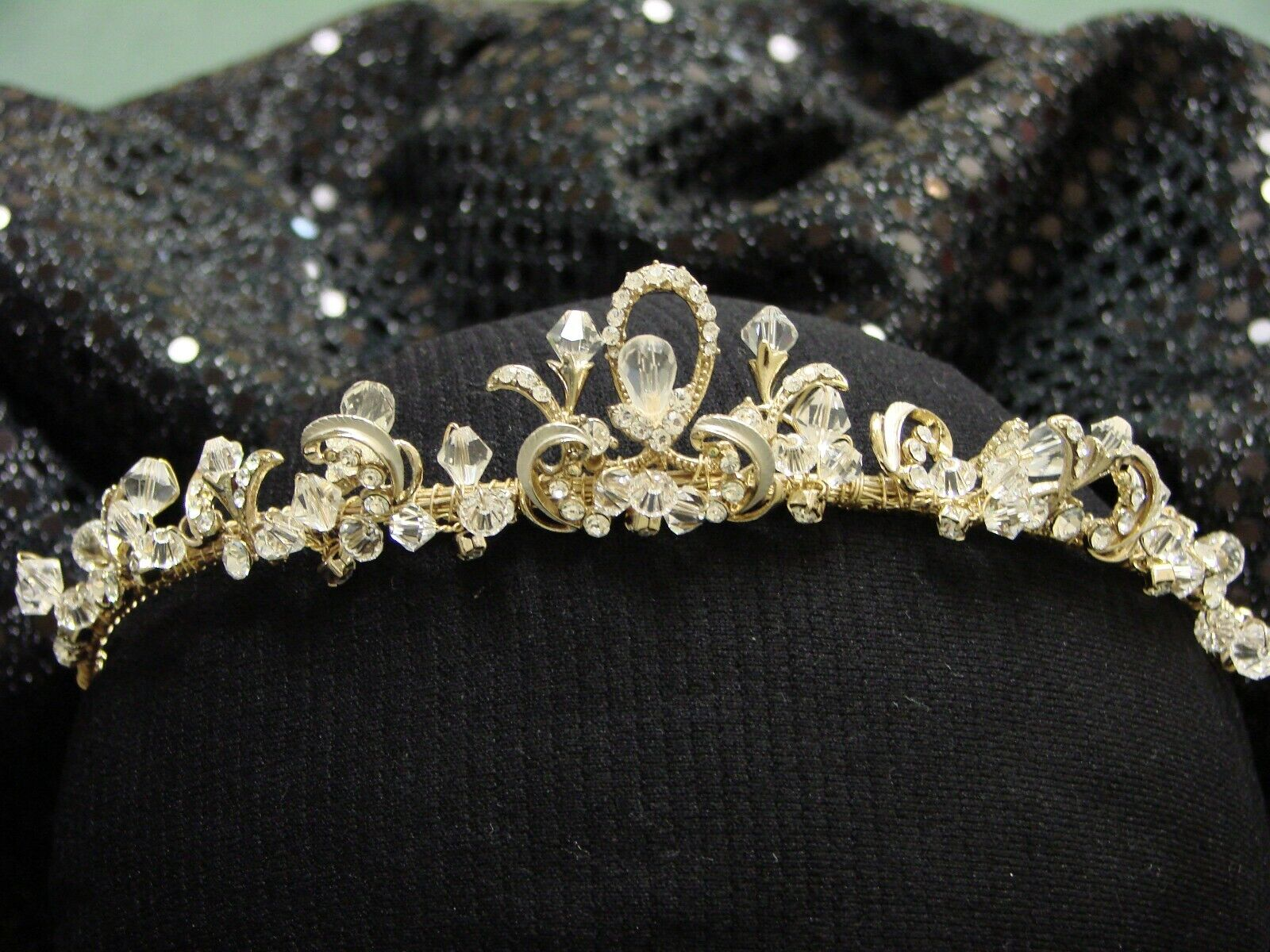 Bridal Headband Crystal & rhinestone,TIARA, silver/gold. New with Tags