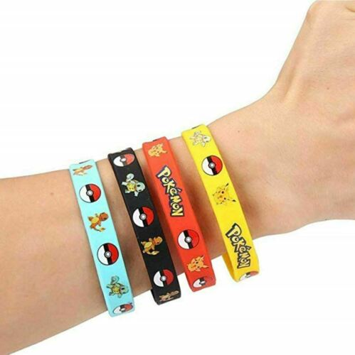 -Party Bag fillers 12 Pokemon Wristbands favours ideas Supplies Loot