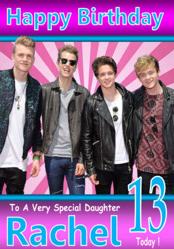 THE VAMPS New Personalised Birthday Card 3 ANY NAME RELATION A5 SIZE!! AGE