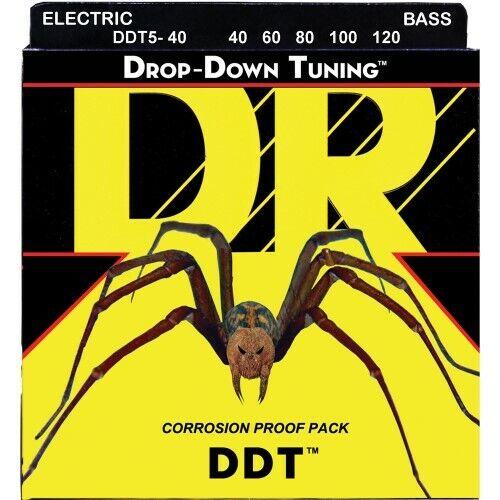 DR DROP-DOWN TUNING Bass Saiten 5-String Light .040-.120   Neu