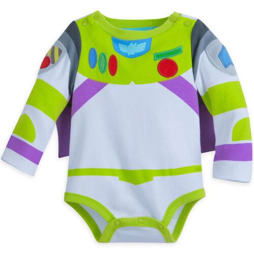 Disney Store Buzz Lightyear Baby Costume Bodysuit w Hat  3 6 9 12 18 24 Mo NEW