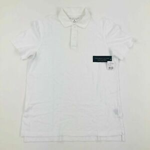 Bloomingdale-039-s-Mens-Store-Short-Sleeve-Polo-Shirt-White-Variety-Sizes