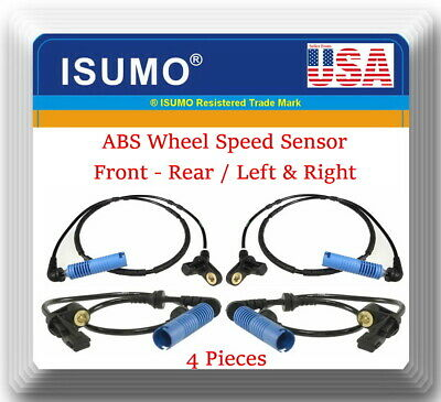 2 x 3363LFR ABS Wheel Speed Sensor Front L/&R Fit:BMW 320 325 330 M3 Z4 2001-2008