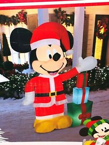 New-7-039-DISNEY-MICKEY-MOUSE-AIRBLOWN-INFLATABLE-Lights-Up-Gemmy-LED-Christmas