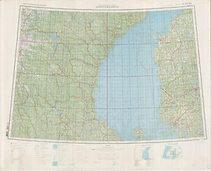 Russian Soviet Military Topographic Maps OSTERSUND Sweden - Sweden map ostersund