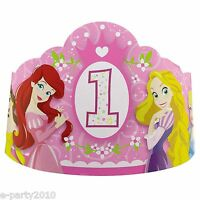 Disney Princess 1st Birthday Paper Tiaras First Party Supplies Favors Crowns
