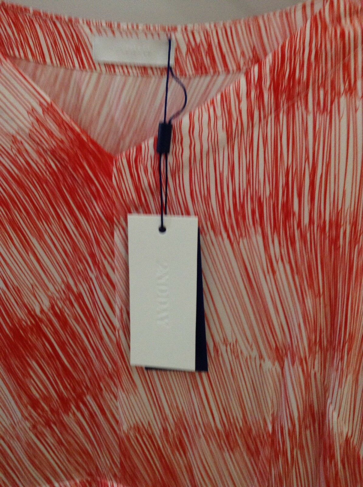 2ND day Dress Red And White Stripes. Size 10.
