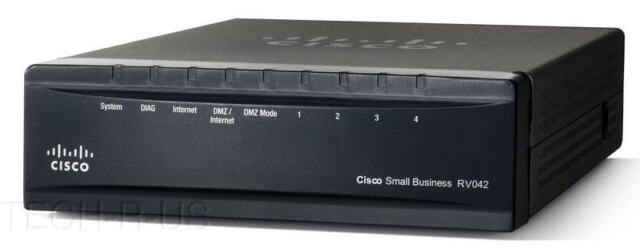 Cisco RV042G-K9-NA RV042G Double Wide Area Network Firewall VPN 4 ports Gigabit Routeur 6 RJ45