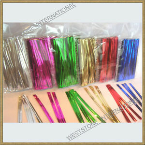 100-pcs-4-034-Metallic-Twist-tie-for-Cello-Candy-Bag