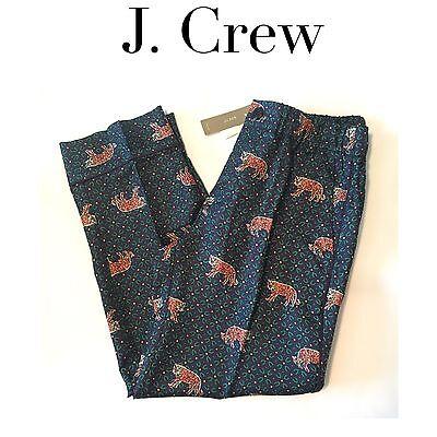 ae07937ec J CREW Silk Easy Pants Tiger PETITE 8 TALL 16 LONG G8726 G8727 Ankle ...