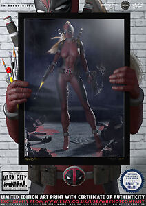 Lady-Deadpool-Dark-City-Comic-Art-Print-Series-200-Limited-Edition