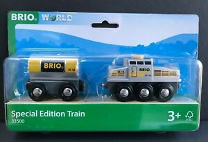 BRIO-Wooden-Train-Engine-amp-Wagon-33500-Brio-Special-Edition-Train-2018-Ages-3