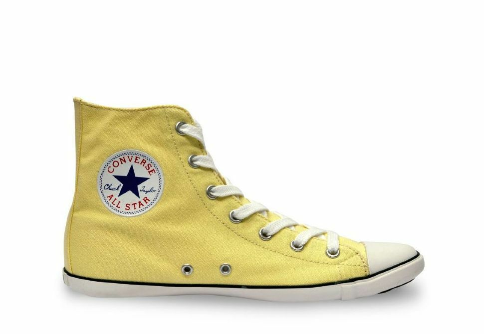 New CONVERSE CHUCK TAYLOR ALL STAR SLIM  LIME Gelb Größe 9 SOLD AS IS