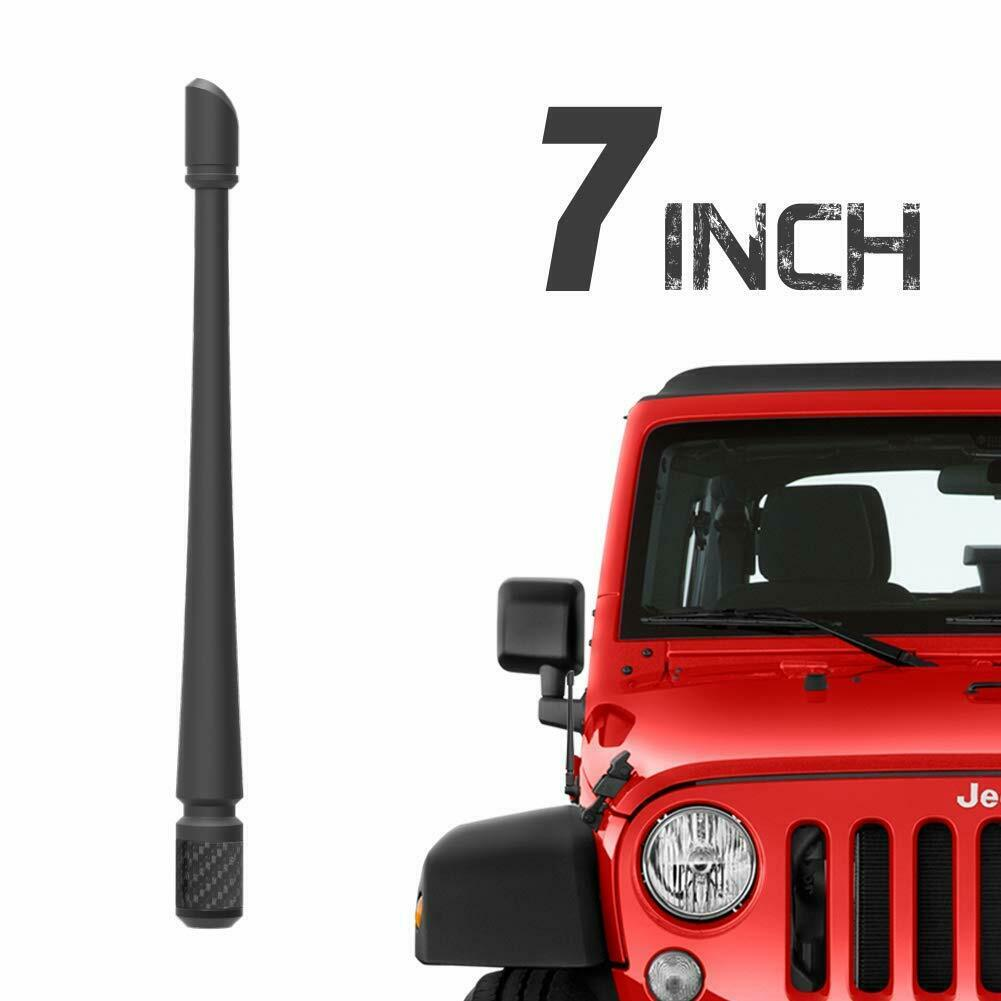 13-inch Low Profile Antenna Replacement for Jeep Wrangler AM FM Radio Shorty Stubby Antenna Mast Replacement Black 2007-2020