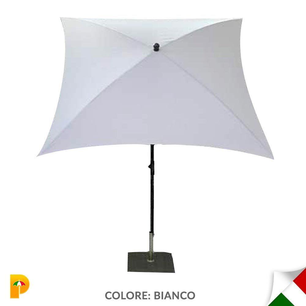 Maffei ombrellone palo centrale Kronos Art.136Q bianco 200x200 cm made in