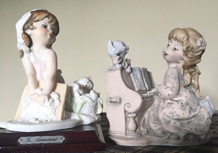 Armani Little Treasures Set Of 2 Figures. Excellent Condition