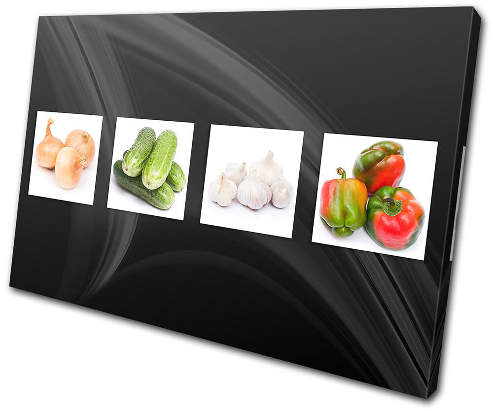 Food Kitchen Fresh Vegetable SINGLE TOILE murale ART Photo Print