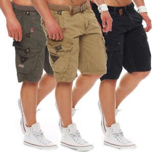 Geographical-Norway-Perle-Herren-Cargo-Shorts-Kurze-Sommer-Hose-Bermuda-Short