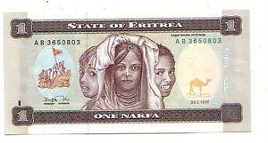 Eritrea-1-nakfa-24-5-1997-FDS-UNC-Pick-1-Lotto-2986