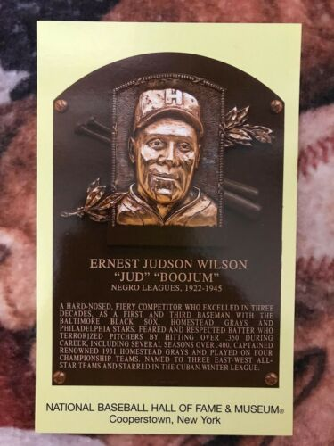 Jud Wilson Postcard Baseball Hall of Fame Induction Plaque Cooperstown Photo