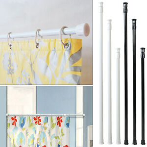 Image Is Loading Extendable Spring Tension Rod Pole Shower Curtain Bathroom