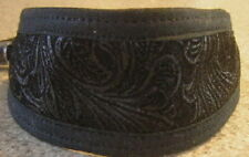 FAUX LEATHER BLACK PAISLEY COLLAR LEAD ITALIAN GREYHOUND CHINESE CRESTED XOLO