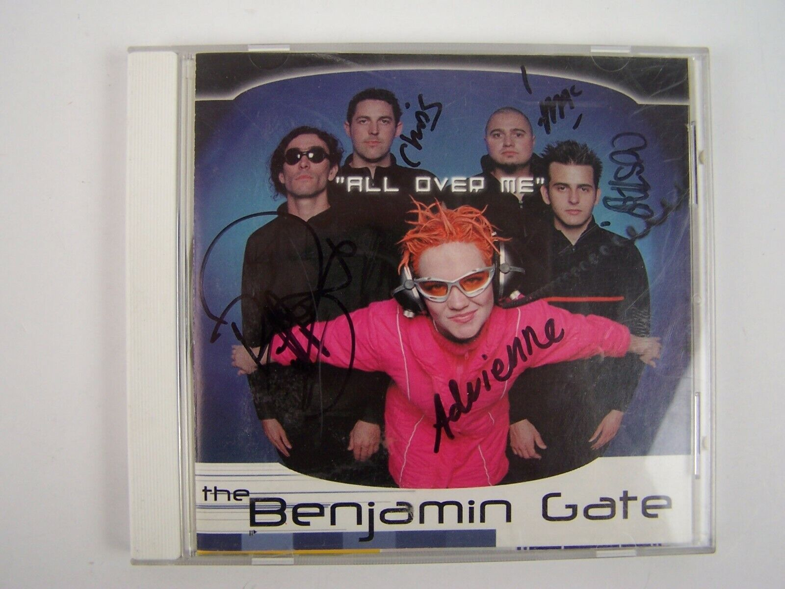 The Benjamin Gate All Over Me Maxi Single CD Signed Aut