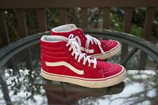Vans Classic SK8 Hi Top Red Men's Size 10 High Tops Skate Shoes