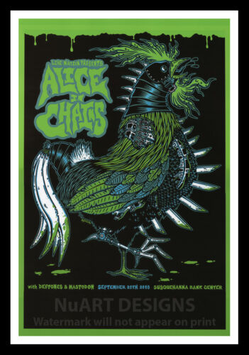 """Framed Vintage Style Rock /'n/' Roll Poster /""""ALICE IN CHAINS/"""";12x18"""