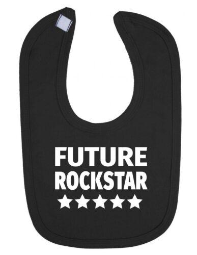 Future Rockstar Stars Design Funny Cute Newborn Toddler Baby Bib