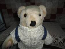 Roller Blade Bear Knitted Sweater & Backpack RARE