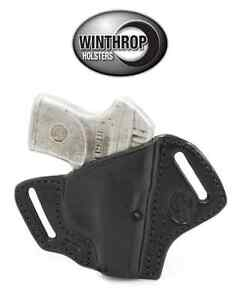 Ruger-LCP-No-Laser-OWB-No-Bodyshield-Leather-Holster-R-H-Black