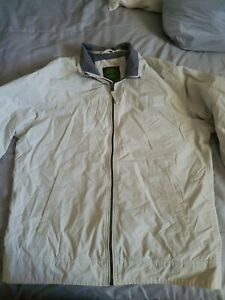 Timberland-Mens-Soft-Lined-Nylon-Shell-Full-Zip-Beige-Windbreaker-Coat-Jacket-L