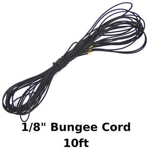 "10ft 1//8/"" Black Shock Cord Marine Grade Bungee Heavy Duty Tie Down Stretch Rope"