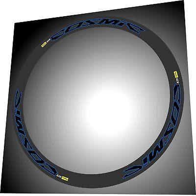 SLR MAVIC COSMIC CARBONE SL SLE BLACK W FLUORESCENT YELLOW RIM DECAL SET