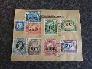 ADEN-QUAITI-STATE-POSTAGE-STAMPS-ON-COVER-SG20-27-28-VERY-FINE-USED