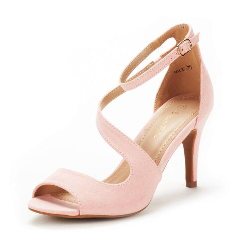 Women Ankle Strap Open Toe Stilettos Heel Wedding Party Heel Sandals Shoes Size
